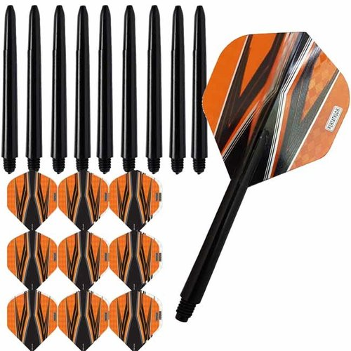 Pentathlon Pentathlon dartflights combiset spitfire zwart oranje