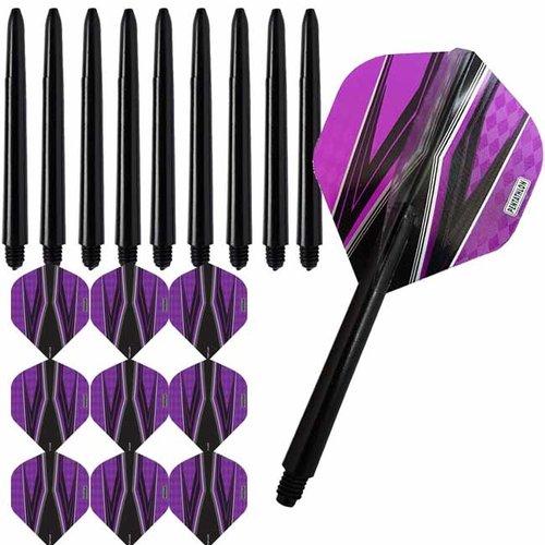 Pentathlon Pentathlon dartflights combiset spitfire zwart paars