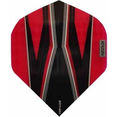 Pentathlon Pentathlon TDP LUX dartflight - spitfire zwart rood