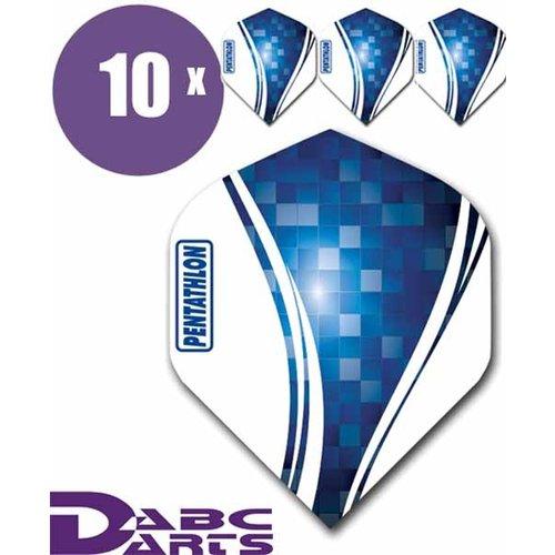 Pentathlon Dart flights pentathlon wave 10 sets (30 stuks) dartflights blauw