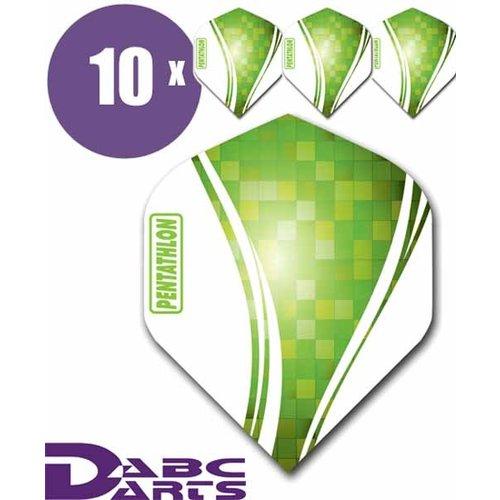 Pentathlon Dart flights pentathlon wave 10 sets (30 stuks) dartflights groen