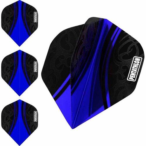 Pentathlon Pentathlon dartflight Tribal Blauw - 10 Sets