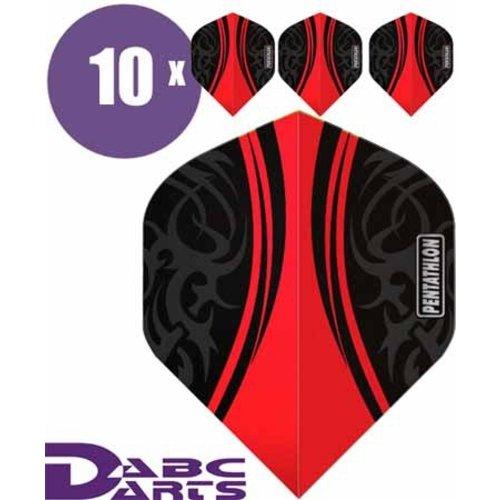 Pentathlon Pentathlon dartflight Tribal Rood - 10 Sets