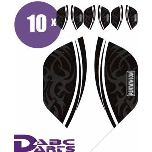 Pentathlon Pentathlon dartflight Tribal Clear - 10 Sets