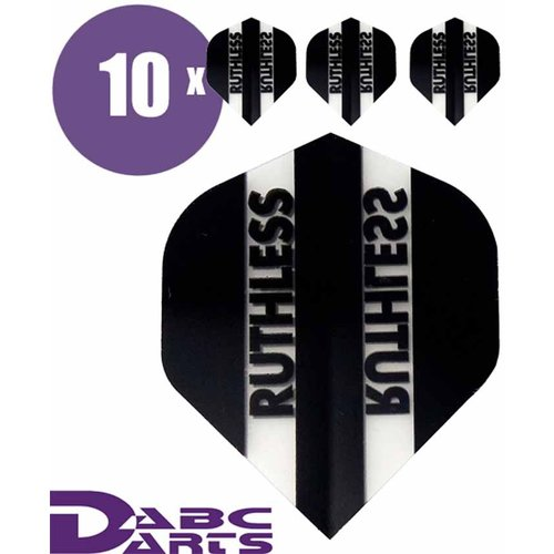 Ruthless Dart flights Ruthless Classic Zwart - 10 sets