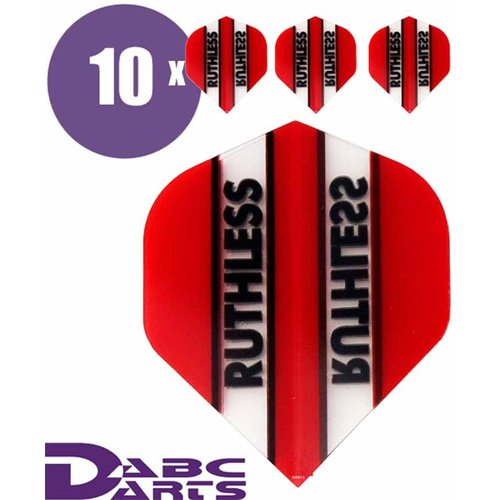 Ruthless Dart flights Ruthless Classic Rood - 10 sets