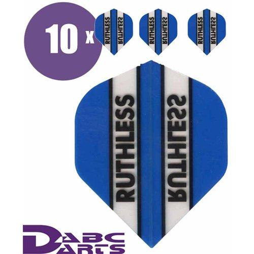Ruthless Dart flights Ruthless Classic Cyan Blauw - 10 sets