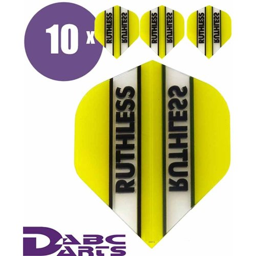 Ruthless Dart flights Ruthless Classic Geel - 10 sets