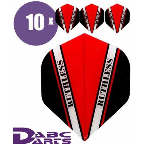 Ruthless Dart Flights Ruthless Vision V Rood - 10 sets