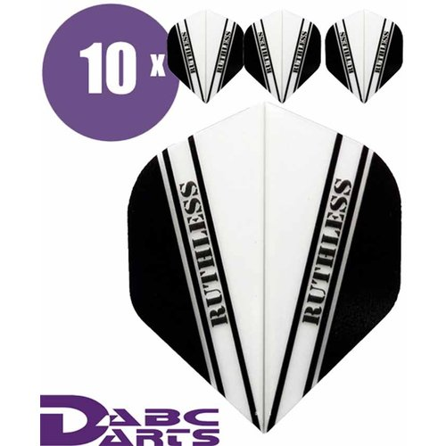 Ruthless Dart Flights Ruthless V Wit - 10 sets