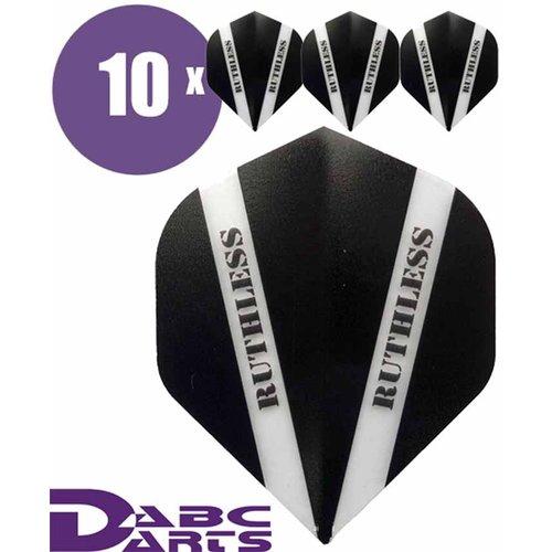 Ruthless Dart Flights Ruthless V Zwart - 10 sets