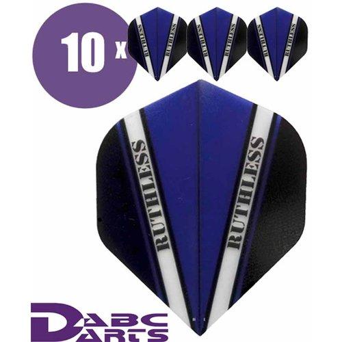 Ruthless Dart Flights Ruthless V Blauw - 10 sets