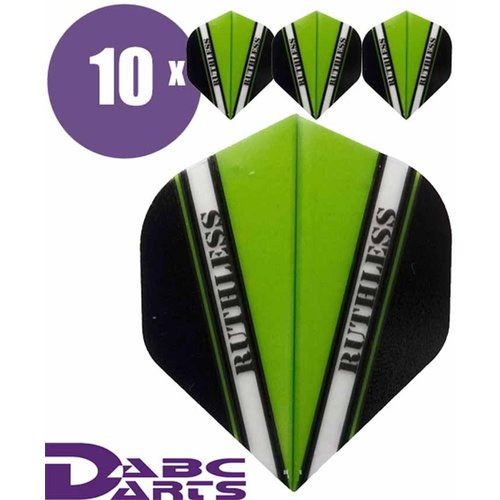 Ruthless Dart Flights Ruthless V Groen - 10 sets