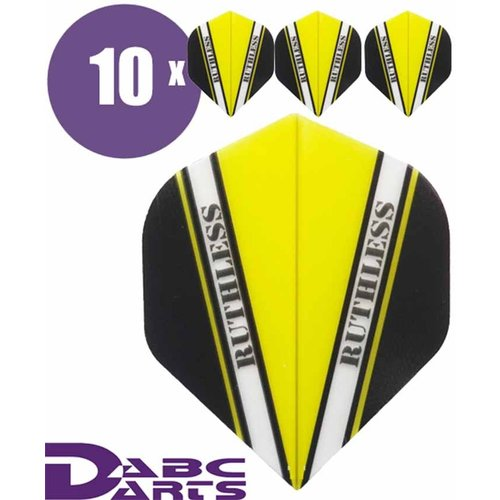 Ruthless Dart Flights Ruthless V Geel - 10 sets