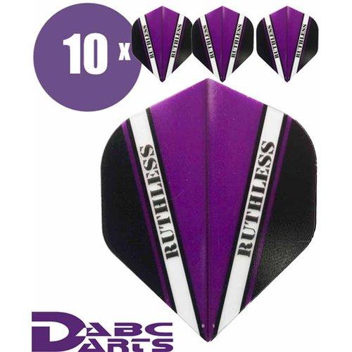 Ruthless Dart Flights Ruthless V Paars - 10 sets
