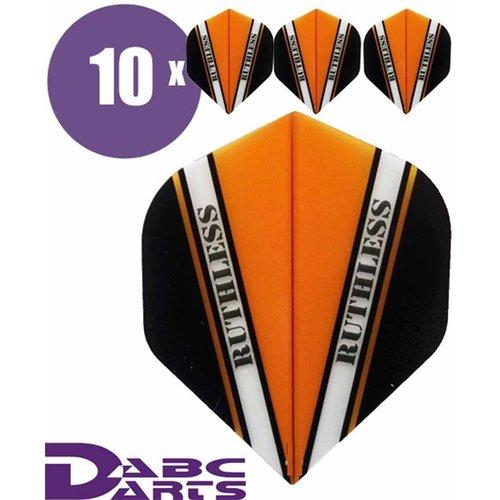 Ruthless Dart Flights Ruthless V Oranje - 10 sets