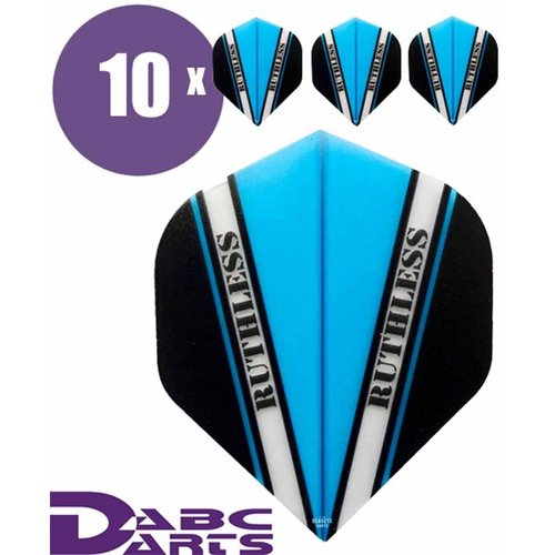 Ruthless Dart Flights Ruthless V Cyan Blauw - 10 sets