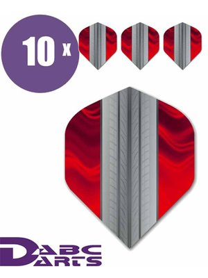 ABCDarts Tire Track Rood - 10 sets