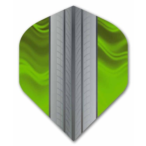 ABCDarts Metronic Dartflights - Tire Track Limegroen - 10 sets