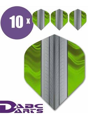 ABCDarts ABC Darts – Tire Track Limegroen - 10 sets