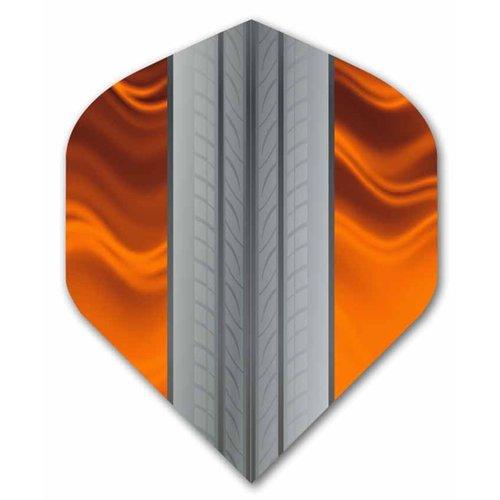 ABCDarts Metronic Dartflights - Tire Track Oranje - 10 sets