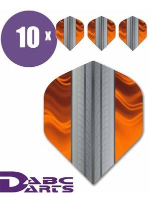 ABCDarts Tire Track Oranje - 10 sets