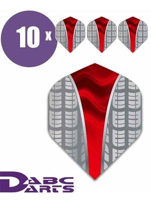 ABCDarts Tire Vwave rood - 10 sets
