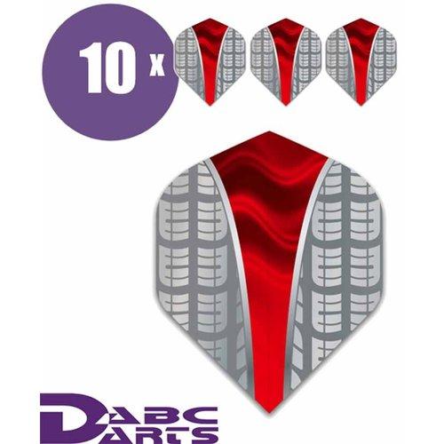 ABCDarts Metronic Dartflights - Target V rood - 10 sets