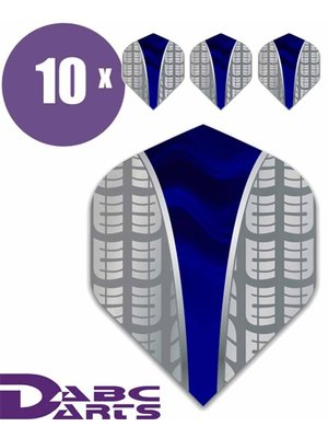 ABCDarts Tire Vwave Blauw - 10 sets