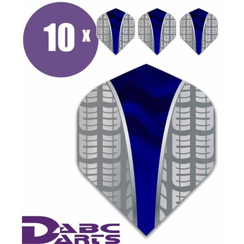 ABCDarts Metronic Dartflights - Target V Blauw - 10 sets