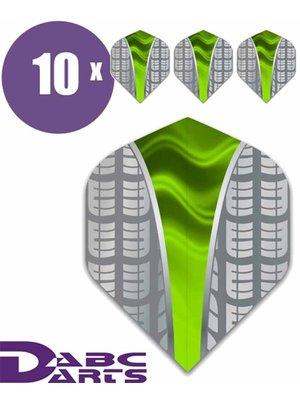 ABCDarts Tire Vwave Groen - 10 sets