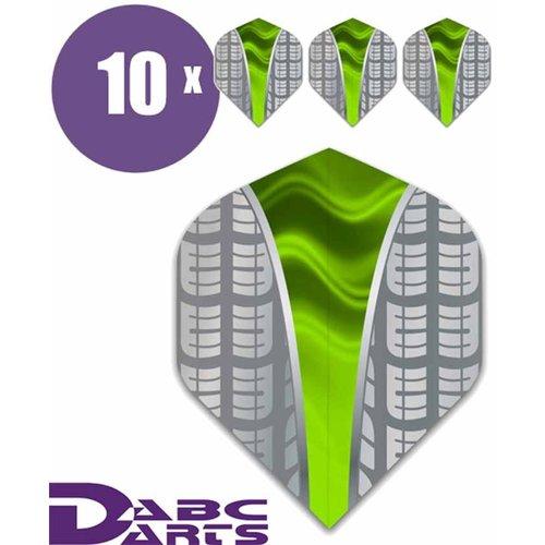 ABCDarts Metronic Dartflights - Target V Groen - 10 sets