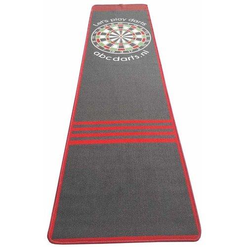 ABCDarts Dartmat tapijt antracite - 80 x 300 cm