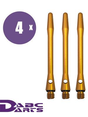 ABCDarts Aluminium Geel – 4 sets