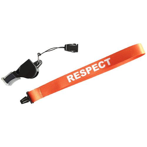 """ABCDarts Polsband """"respect"""" voor scheidsrechters fluit"""