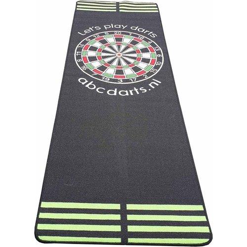 ABCDarts Dartmat tapijt antracite Groen - 80 x 241 cm