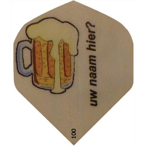 ABCDarts Dartflights bedrukken met bierpul en naam