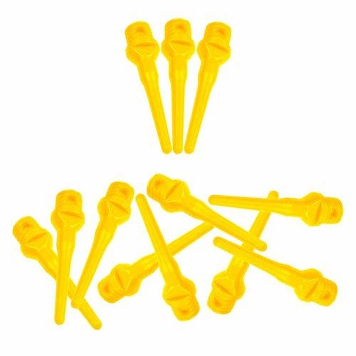ABCDarts Softtip dartpunten fluor geel - 100 stuks