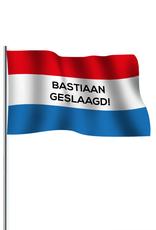 Kopie-Druk Geslaagde vlag standaard met bedrukking