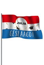 Kopie-Druk Geslaagde vlag cirkel met bedrukking