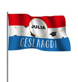 Kopie-Druk Geslaagde vlag cirkel