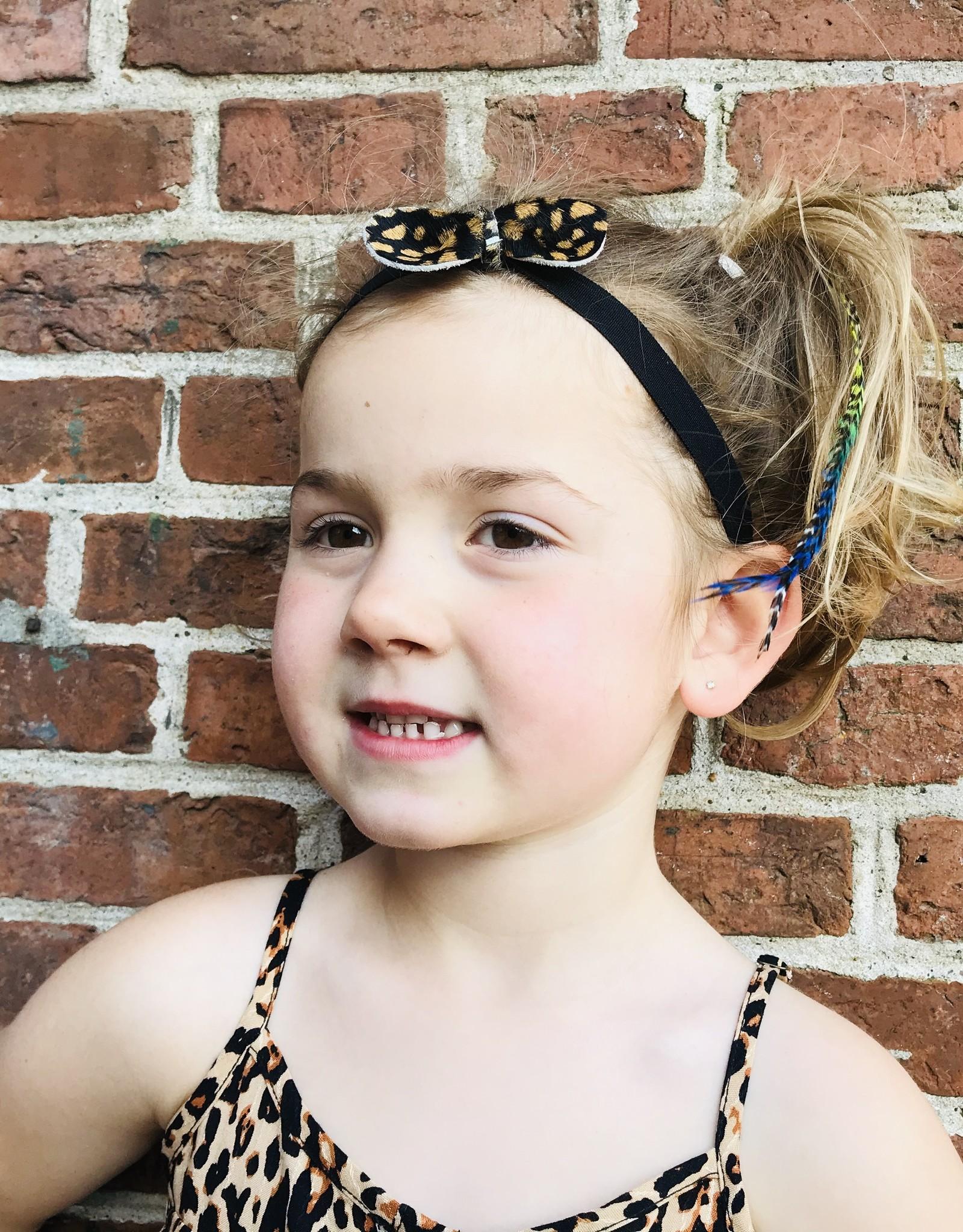 Haarband met luipaard vacht print