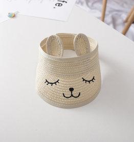 Zonneklep met konijnen oren voor kind & baby