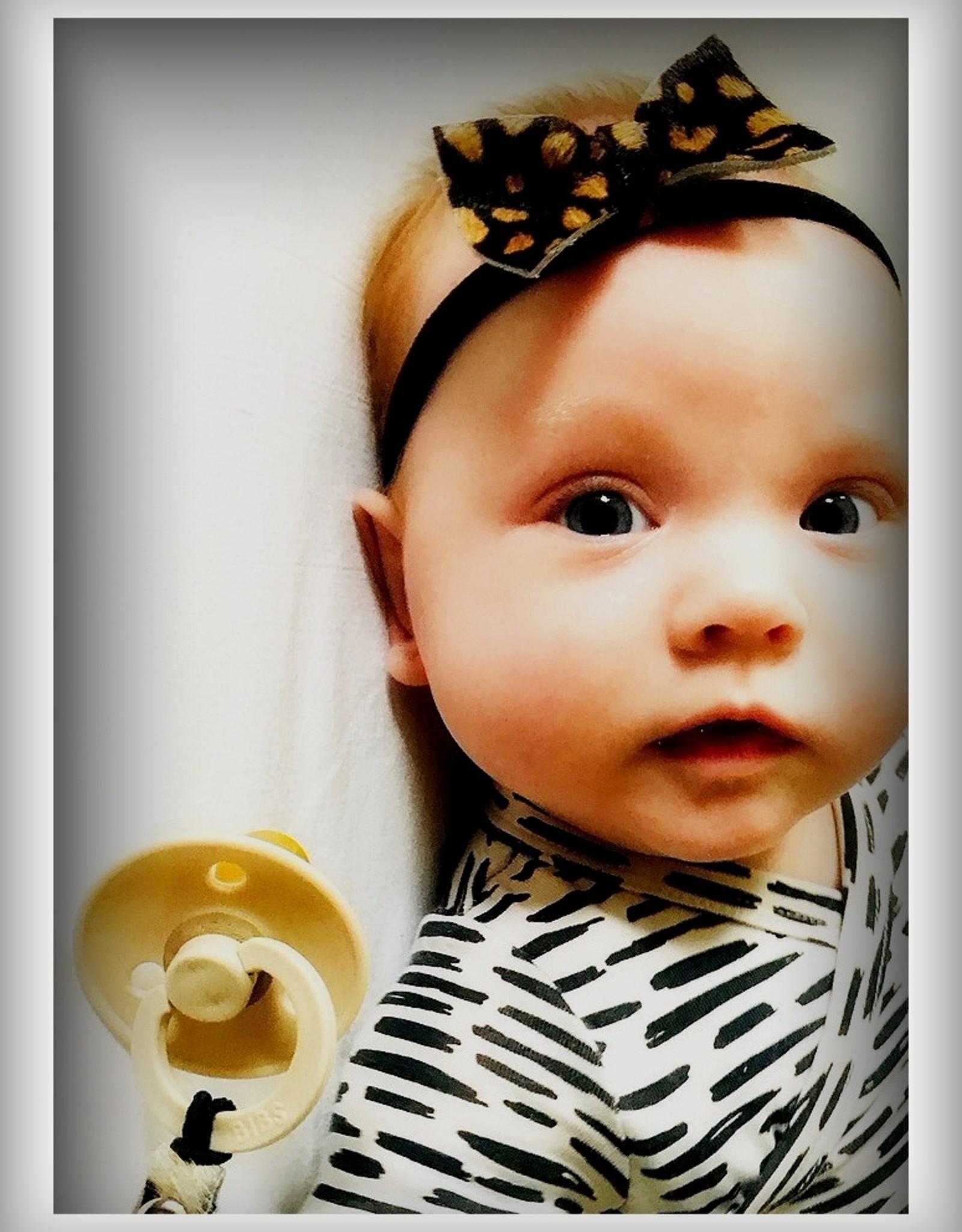 Haarband met luipaard vacht print  voor baby