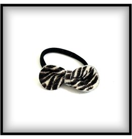 DutchPanda Haar elastiekje met  Zebra strikje
