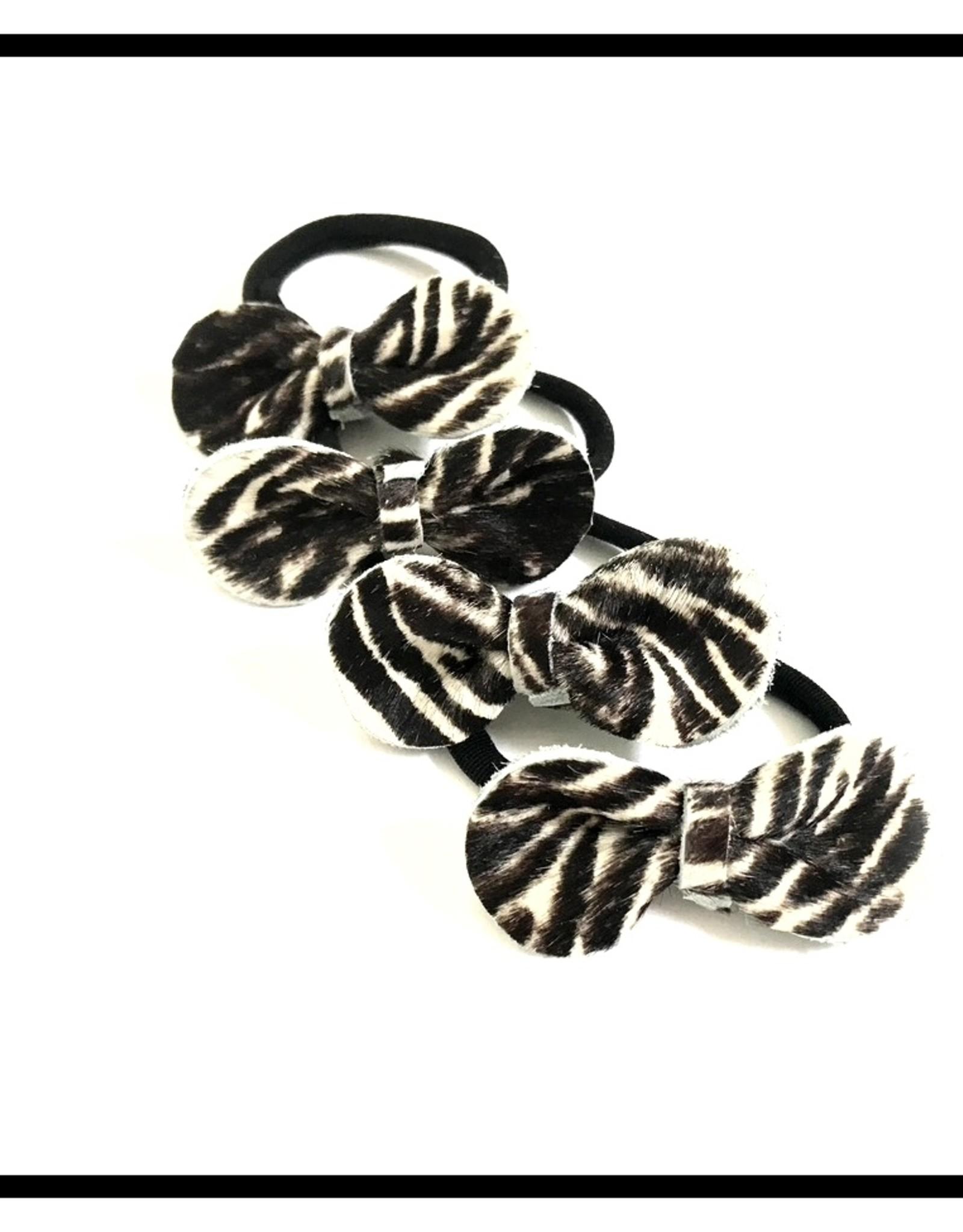 Haar elastiekje met  Zebra strikje