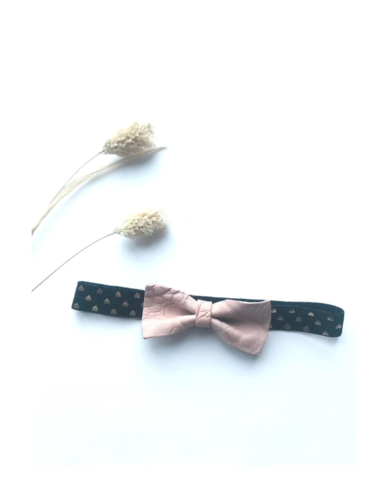 DutchPanda Haarband hartje met strikje roze