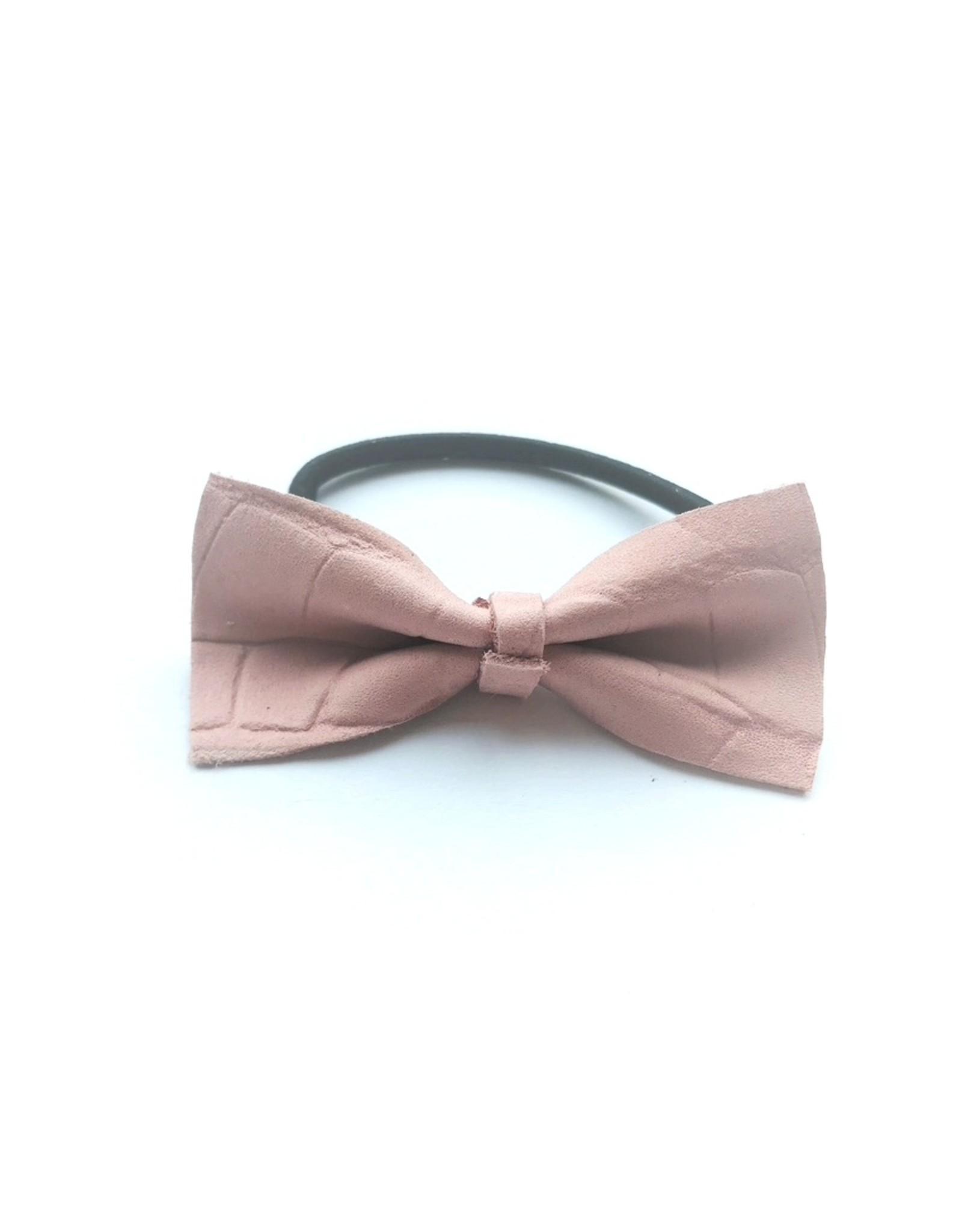 Dutchpanda Haar elastiekje met Roze strikje