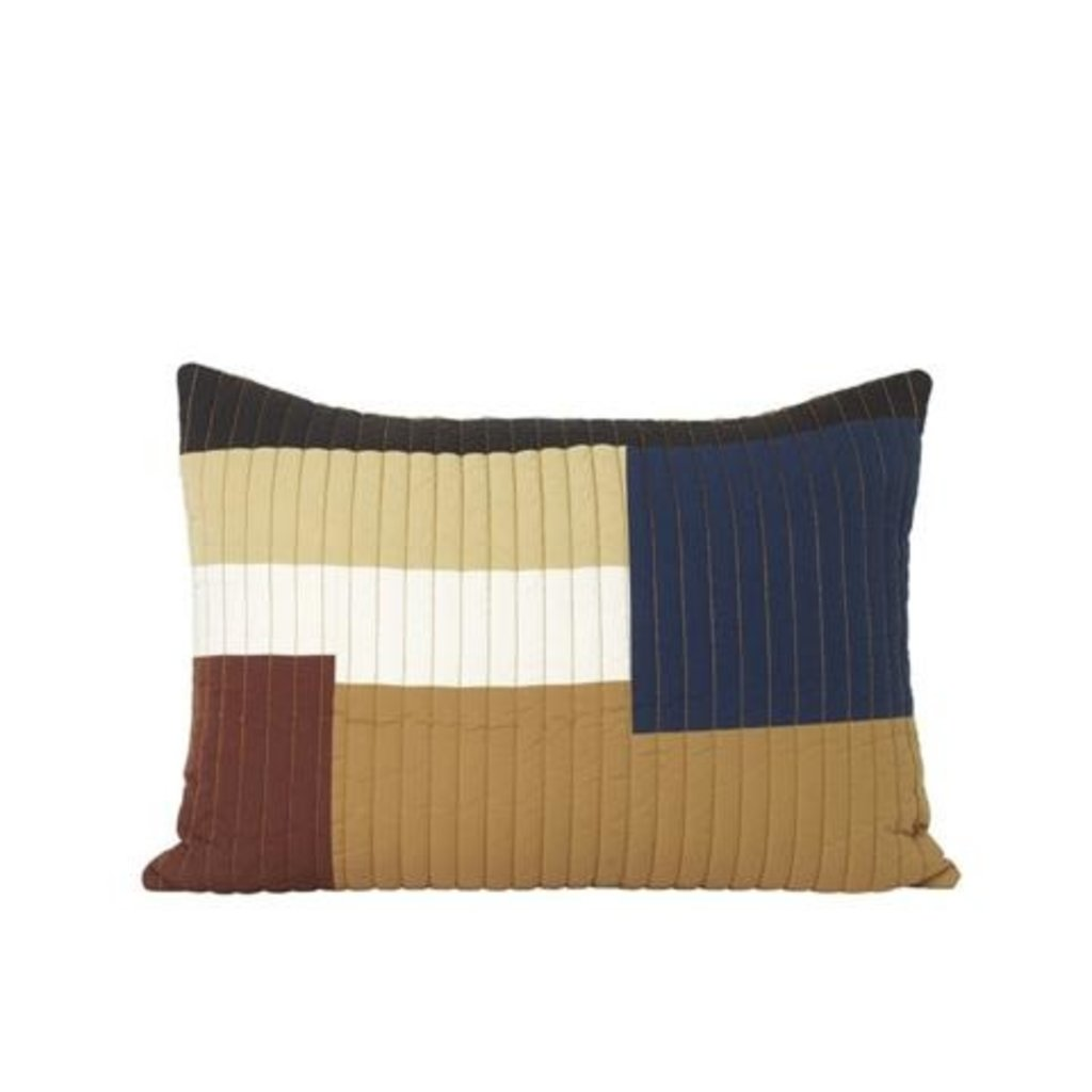 Ferm Living Shay Quilt Cushion 60 x 40 - Mustard