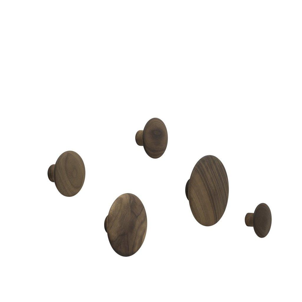 Muuto The Dots - Walnut (set of 5)